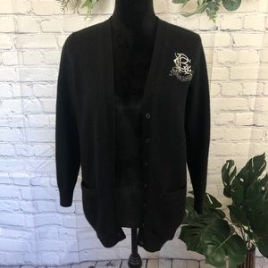 Ralph Lauren embroidered boyfriend fit cardigan